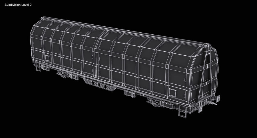 Cargo Railroad Car royalty-free 3d model - Preview no. 13