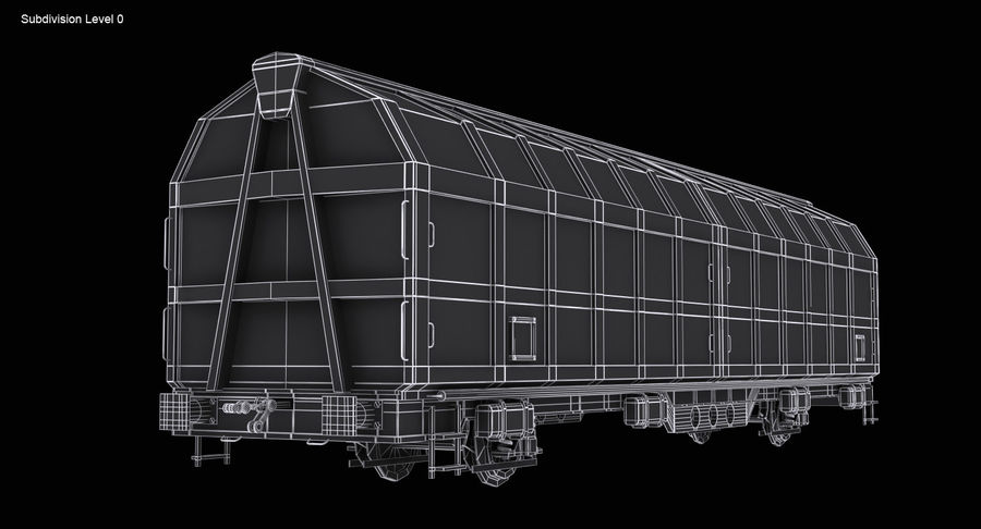 Cargo Railroad Car royalty-free 3d model - Preview no. 15