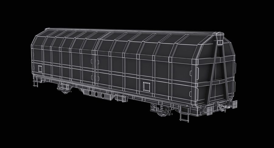 Cargo Railroad Car royalty-free 3d model - Preview no. 11