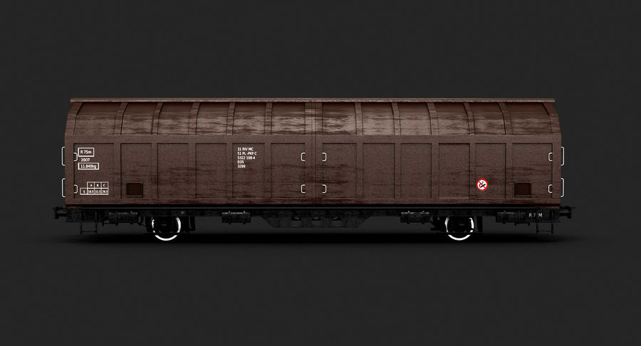 Cargo Railroad Car royalty-free 3d model - Preview no. 5