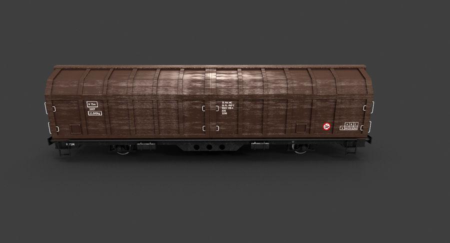 Vagão de carga royalty-free 3d model - Preview no. 8