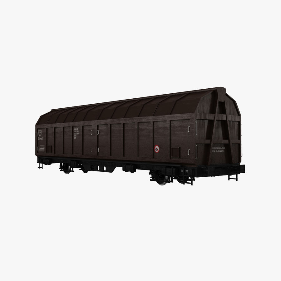 Cargo Railroad Car royalty-free 3d model - Preview no. 1