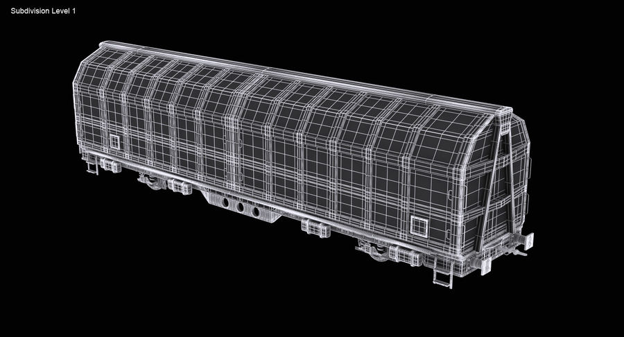 Cargo Railroad Car royalty-free 3d model - Preview no. 14