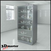 Preparation Cabinet With Hinged Doors 3d model