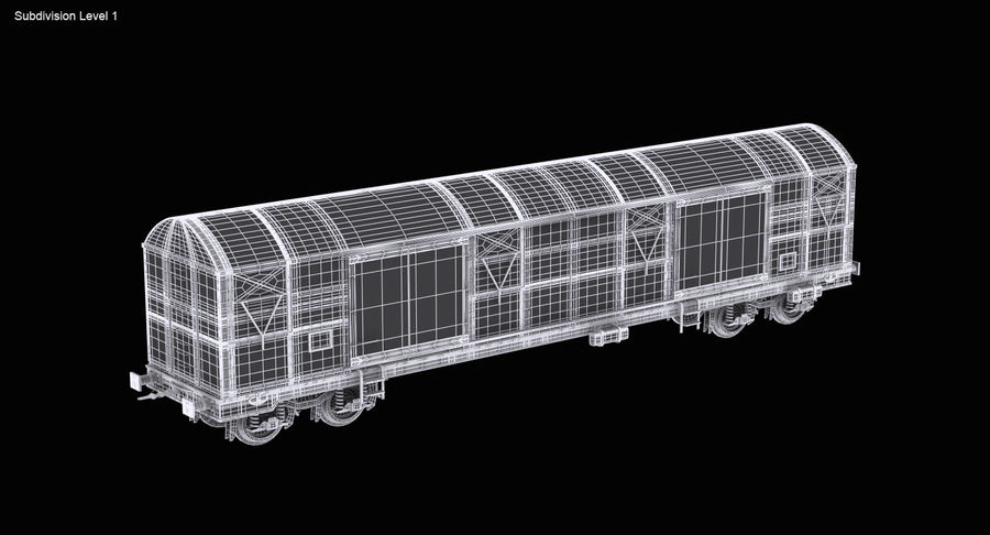 Güterwagen royalty-free 3d model - Preview no. 16