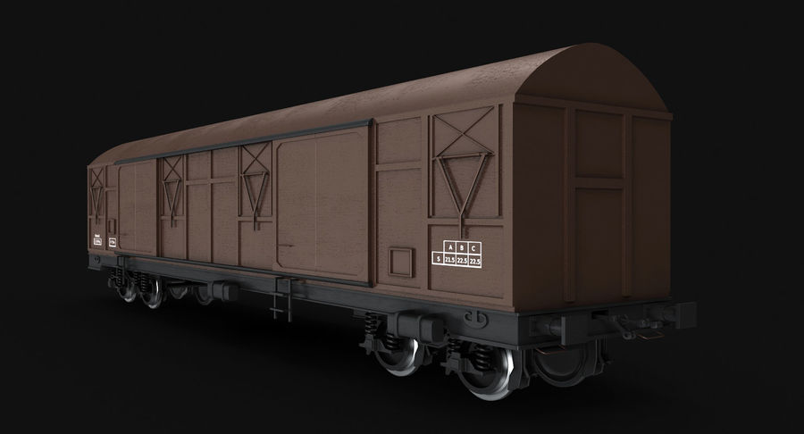 Güterwagen royalty-free 3d model - Preview no. 7
