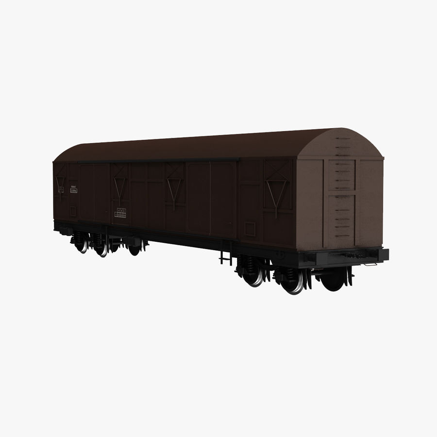 Güterwagen royalty-free 3d model - Preview no. 1