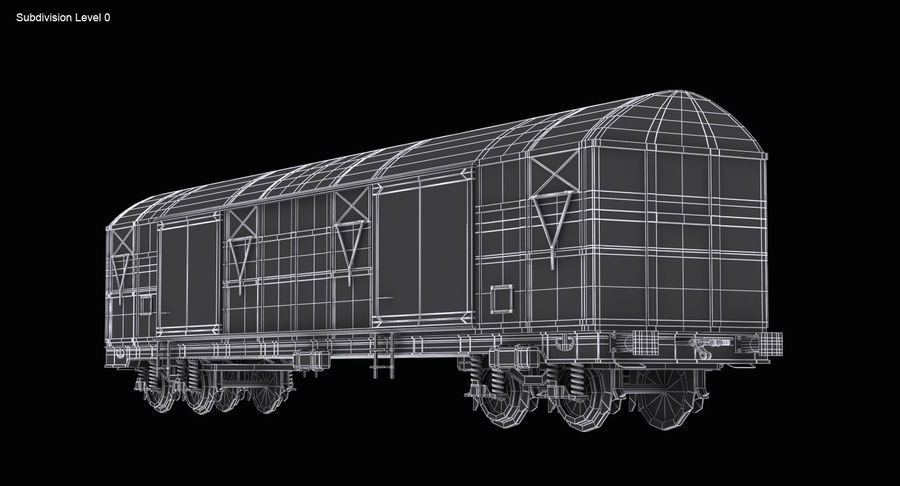 Güterwagen royalty-free 3d model - Preview no. 13