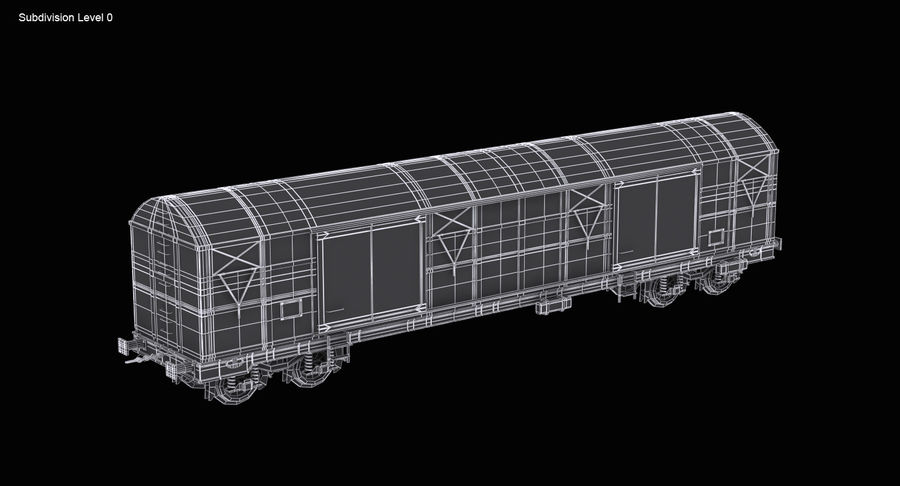 Güterwagen royalty-free 3d model - Preview no. 15