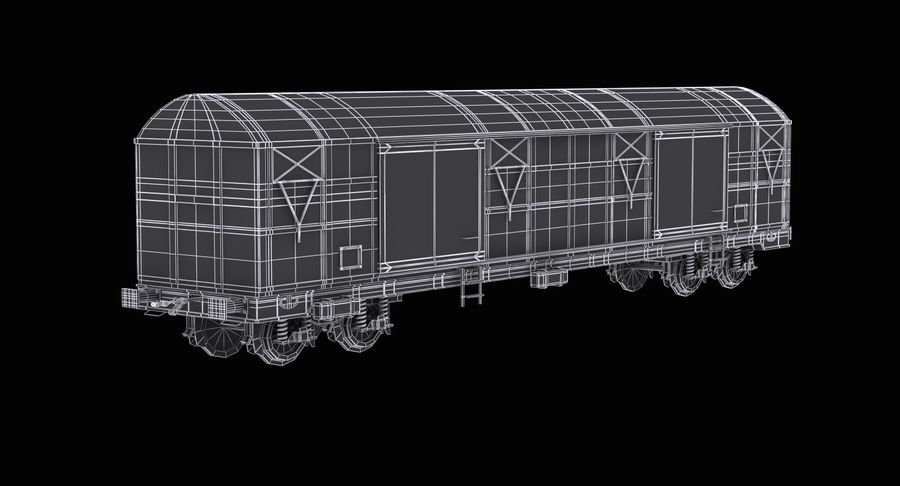 Güterwagen royalty-free 3d model - Preview no. 12