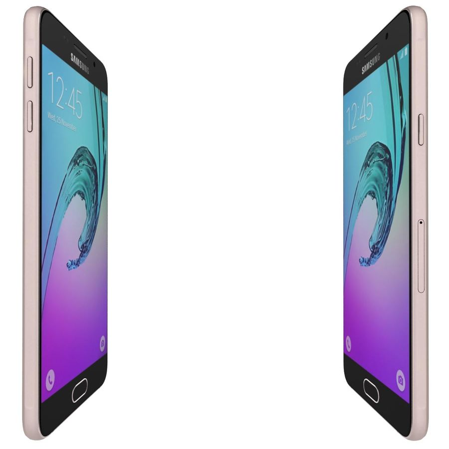 Samsung Galaxy A5 (2016) Alla färger royalty-free 3d model - Preview no. 26