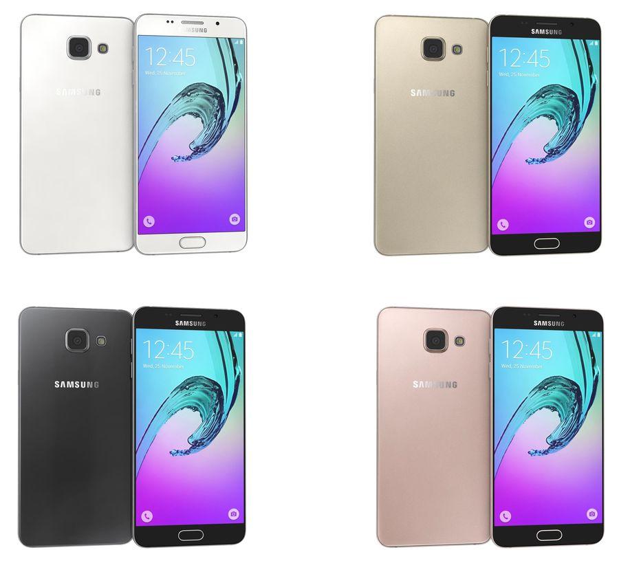 Samsung Galaxy A5 (2016) Alla färger royalty-free 3d model - Preview no. 1