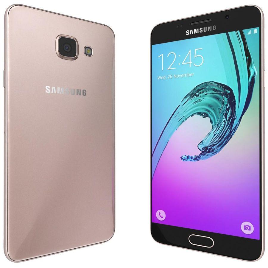 Samsung Galaxy A5 (2016) Alla färger royalty-free 3d model - Preview no. 19