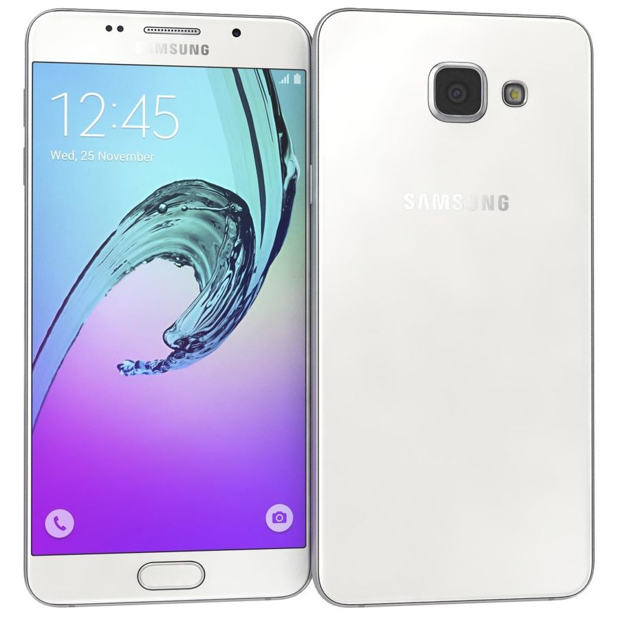 Samsung Galaxy A5 (2016) Alla färger royalty-free 3d model - Preview no. 27