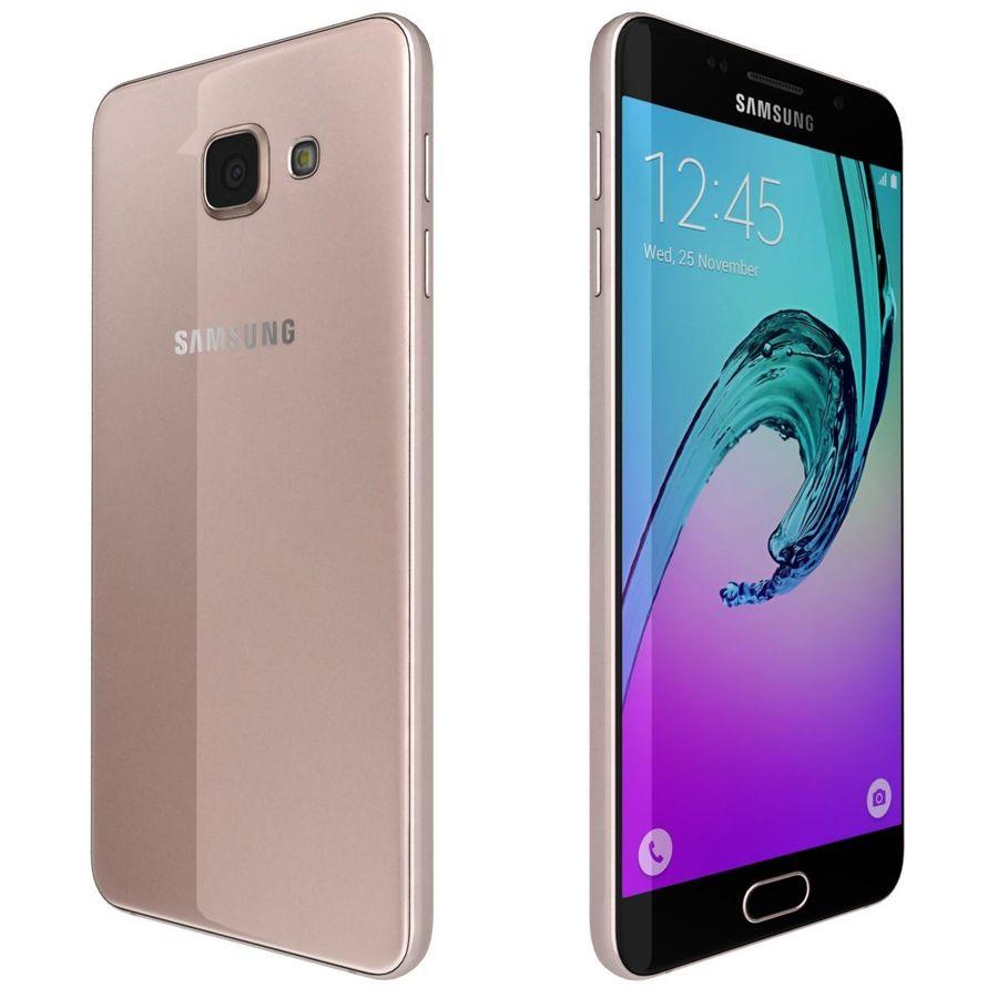 Samsung Galaxy A5 (2016) Alla färger royalty-free 3d model - Preview no. 20
