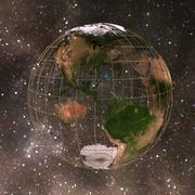 Globe numérique 3d model