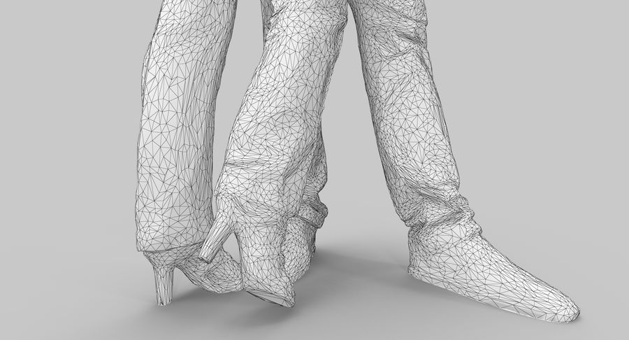 Couple Family royalty-free 3d model - Preview no. 11