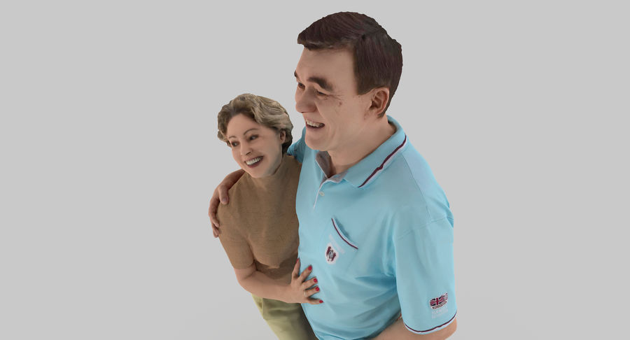 Couple Family royalty-free 3d model - Preview no. 32
