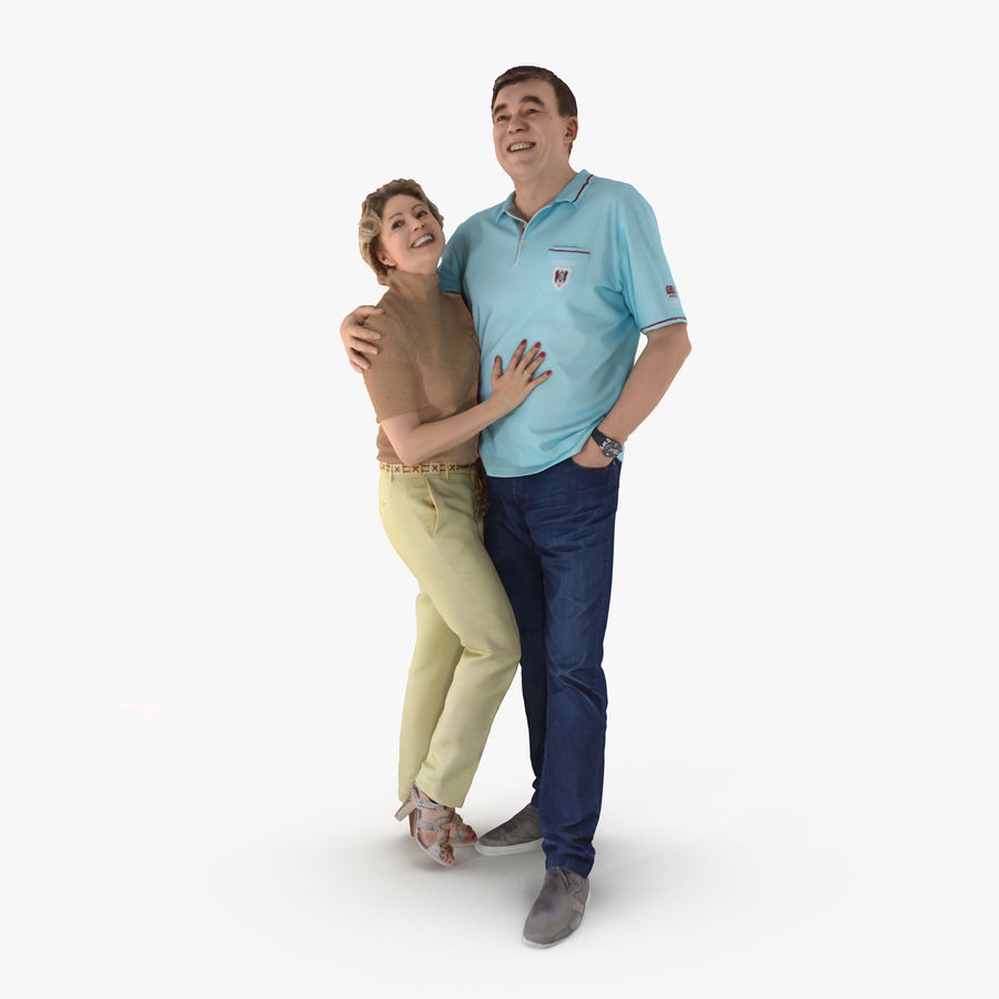 Couple Family royalty-free 3d model - Preview no. 1