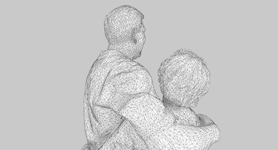 Couple Family royalty-free 3d model - Preview no. 23