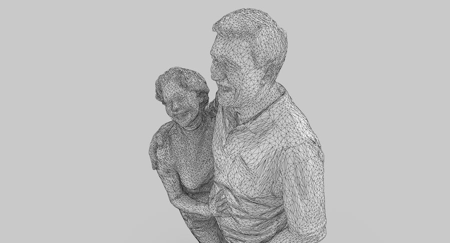 Couple Family royalty-free 3d model - Preview no. 33