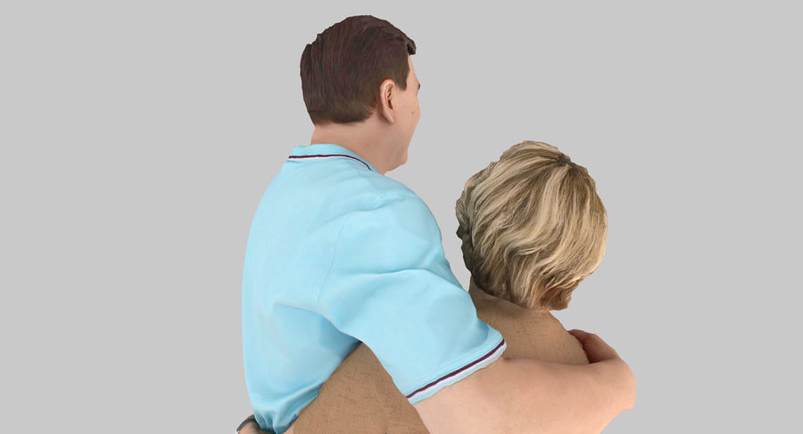 Couple Family royalty-free 3d model - Preview no. 22