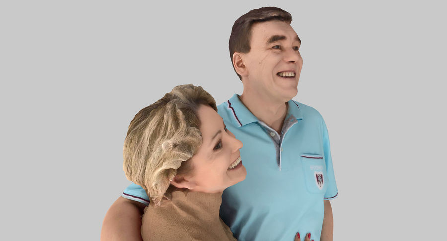 Couple Family royalty-free 3d model - Preview no. 14