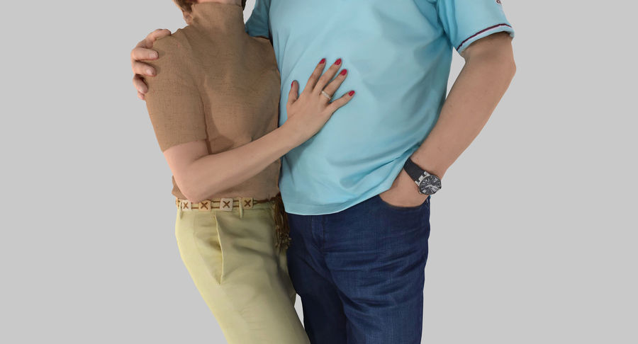 Couple Family royalty-free 3d model - Preview no. 6