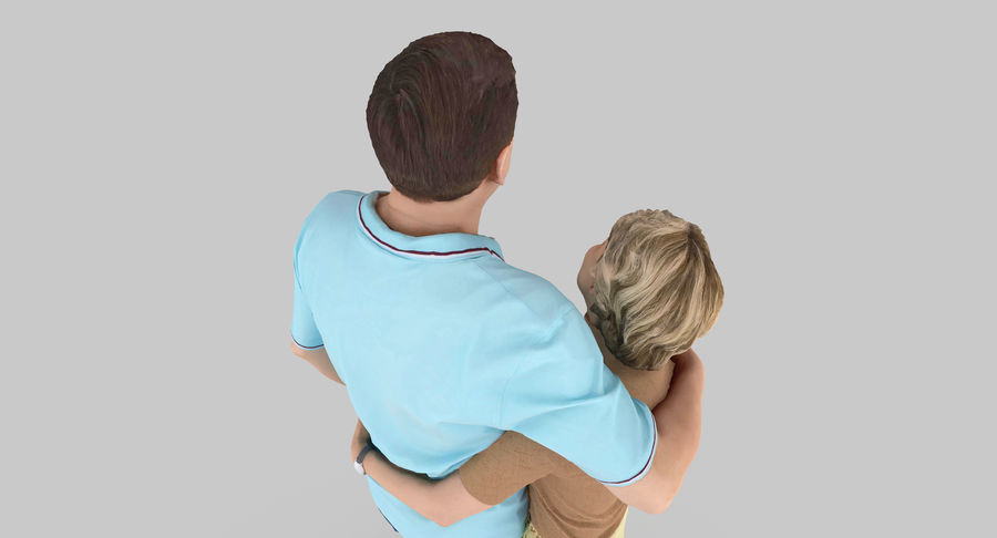 Couple Family royalty-free 3d model - Preview no. 30
