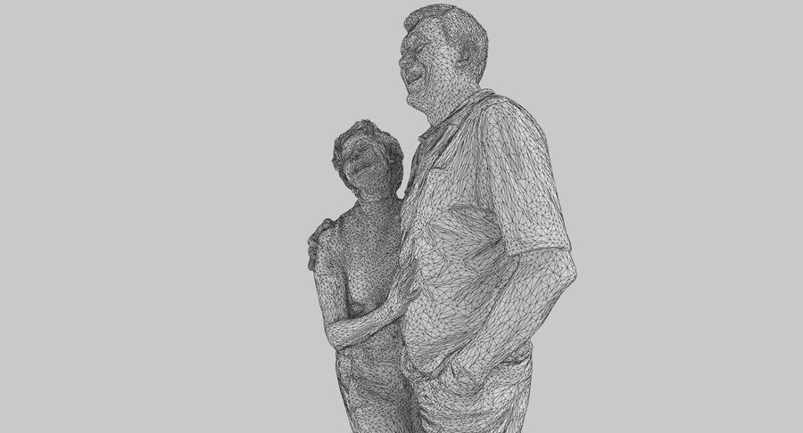 Couple Family royalty-free 3d model - Preview no. 41