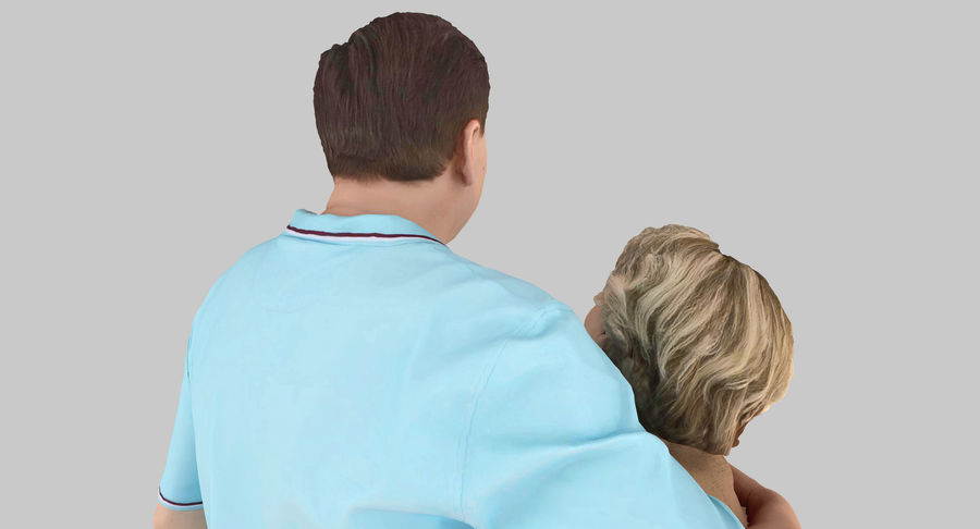 Couple Family royalty-free 3d model - Preview no. 28