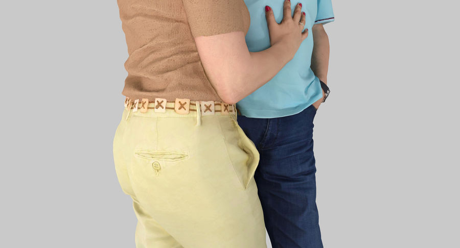 Couple Family royalty-free 3d model - Preview no. 12