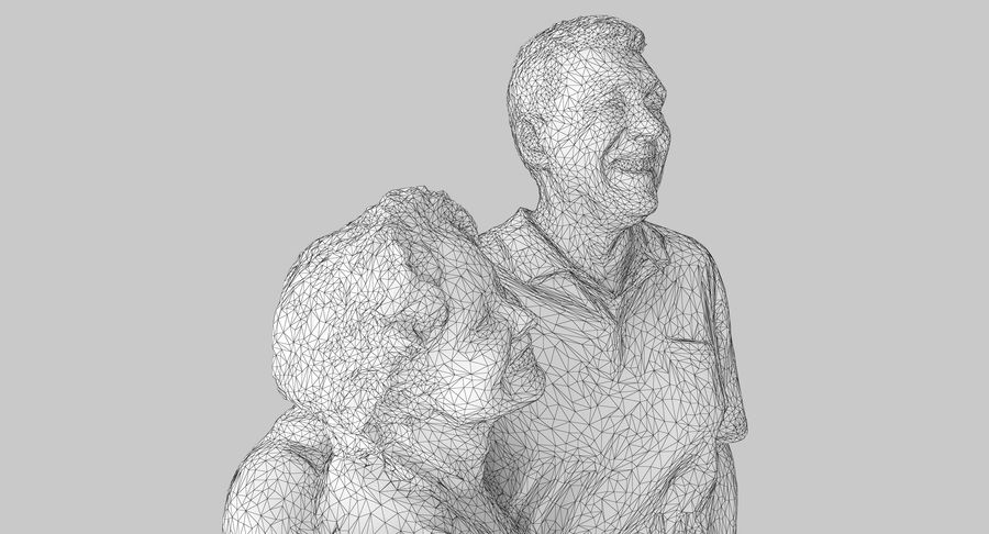 Couple Family royalty-free 3d model - Preview no. 15