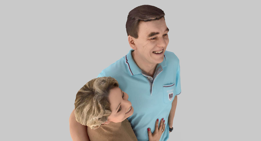 Couple Family royalty-free 3d model - Preview no. 16