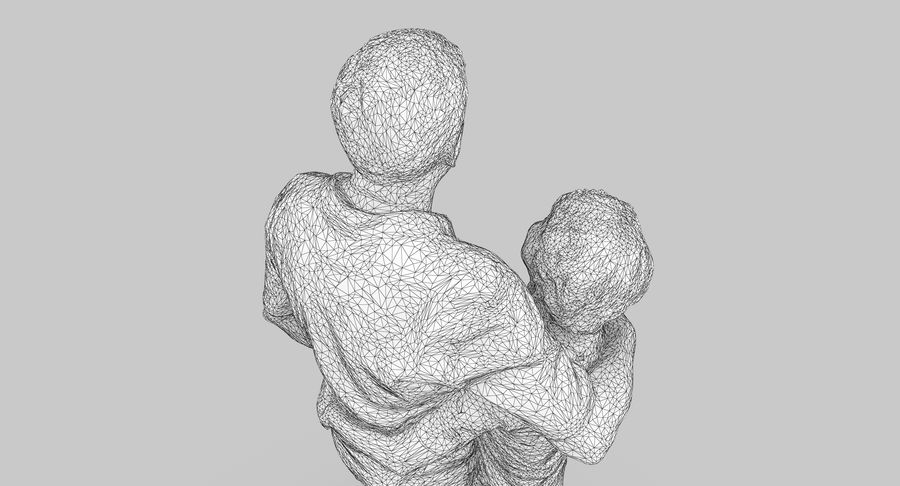 Couple Family royalty-free 3d model - Preview no. 31