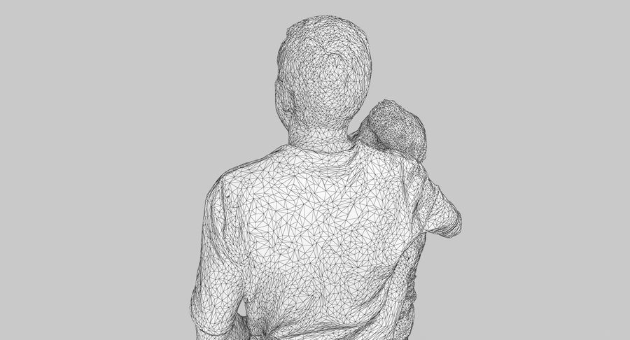 Couple Family royalty-free 3d model - Preview no. 35