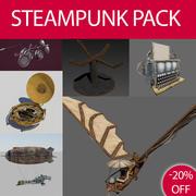 Pacote Steampunk 3d model