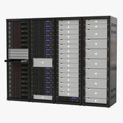 Generische Server-Racks festgelegt 3d model
