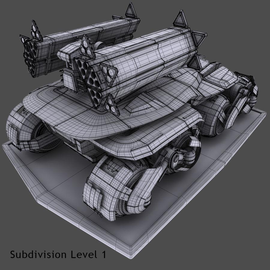 科幻APC坦克 royalty-free 3d model - Preview no. 19