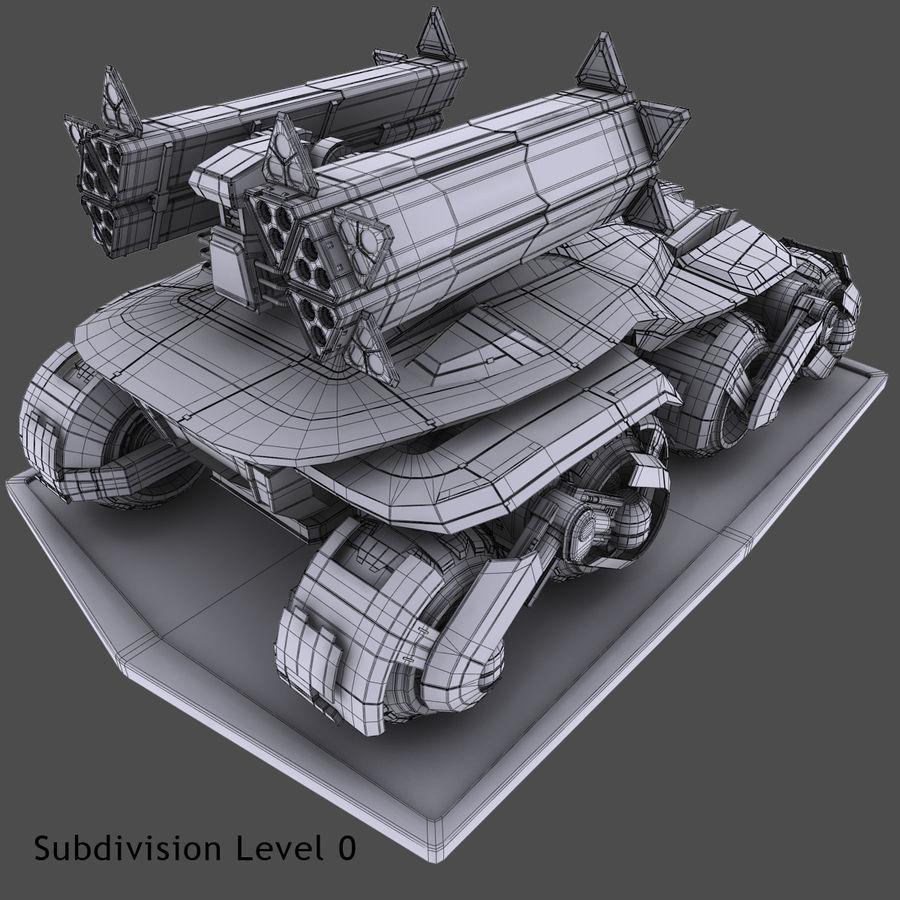 科幻APC坦克 royalty-free 3d model - Preview no. 18