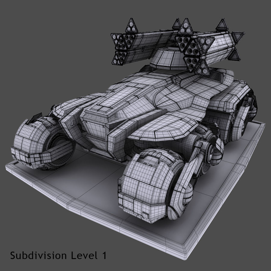 科幻APC坦克 royalty-free 3d model - Preview no. 22