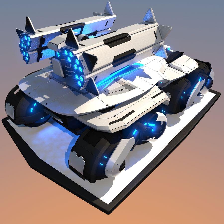 科幻APC坦克 royalty-free 3d model - Preview no. 5