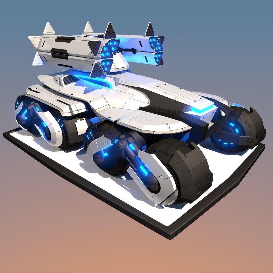 科幻APC坦克 royalty-free 3d model - Preview no. 2