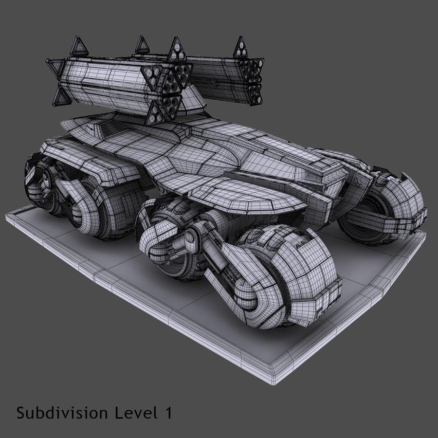科幻APC坦克 royalty-free 3d model - Preview no. 10