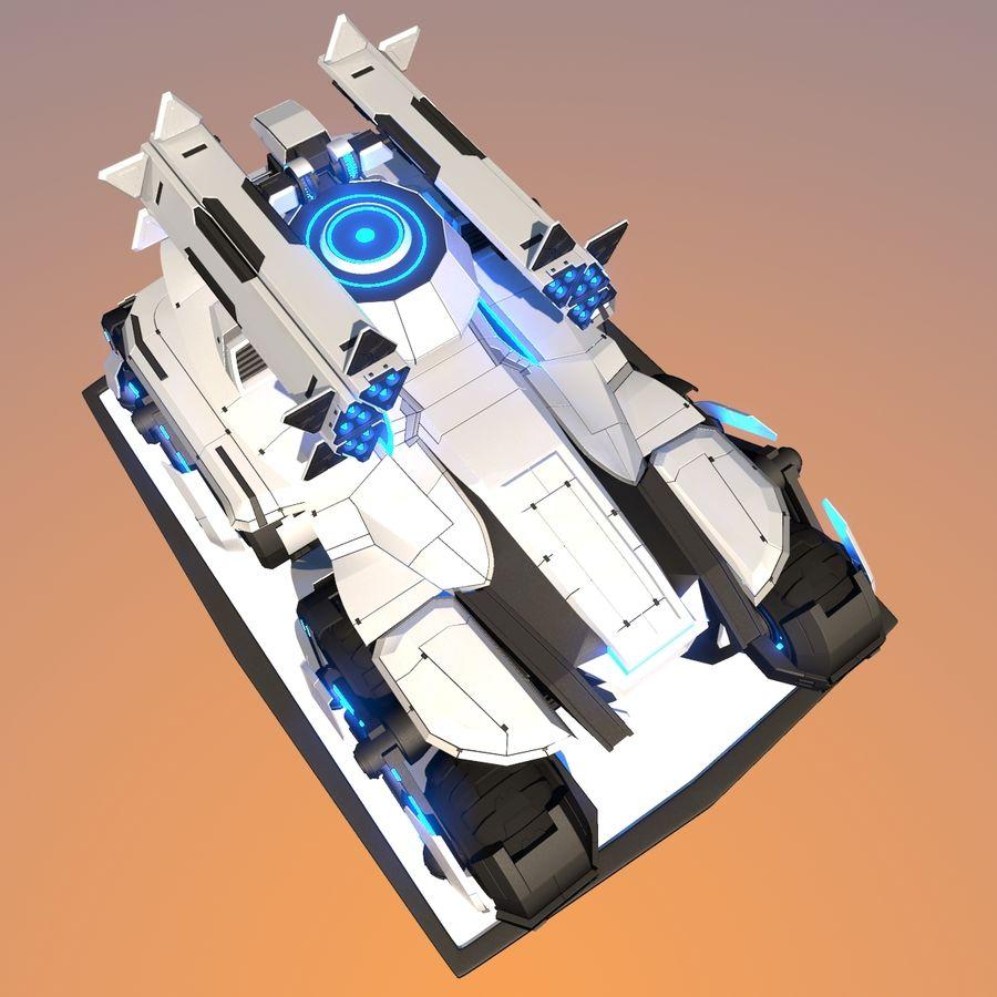 科幻APC坦克 royalty-free 3d model - Preview no. 7