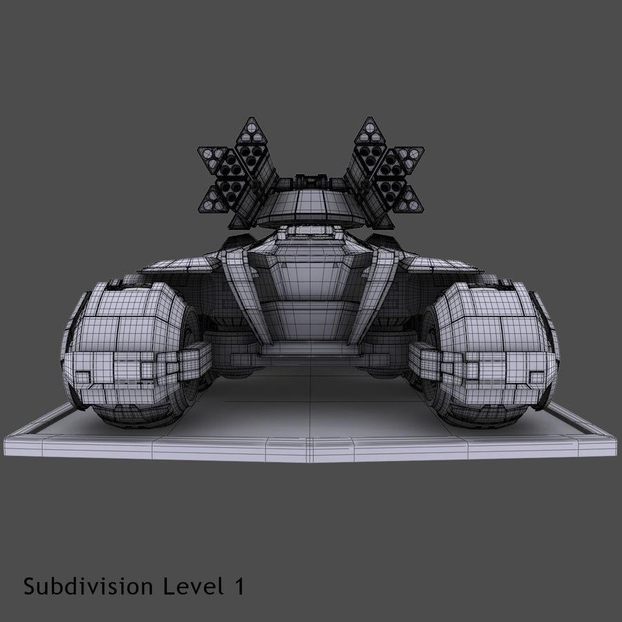 科幻APC坦克 royalty-free 3d model - Preview no. 16