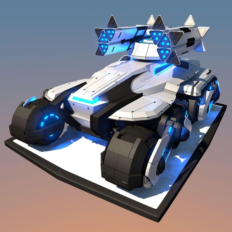 科幻APC坦克 royalty-free 3d model - Preview no. 6