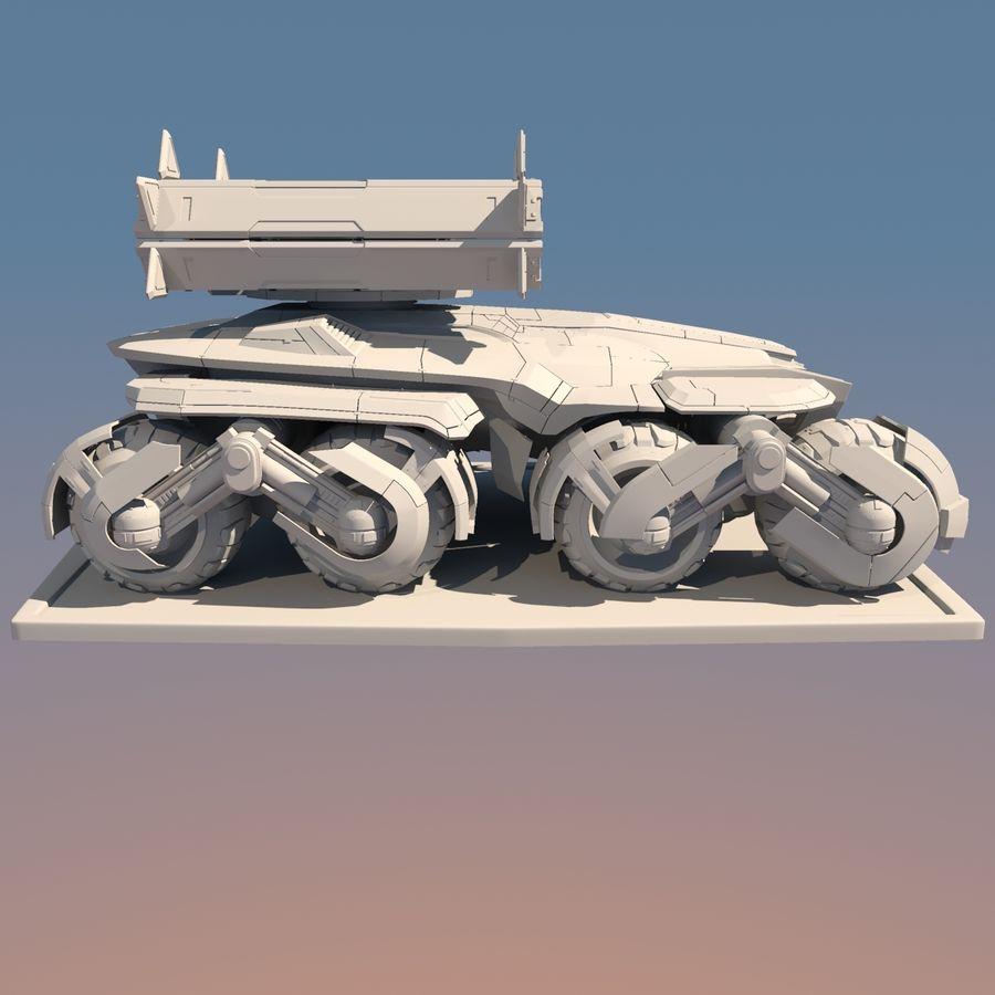 科幻APC坦克 royalty-free 3d model - Preview no. 11