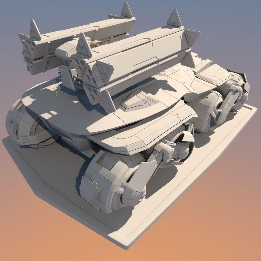 科幻APC坦克 royalty-free 3d model - Preview no. 17