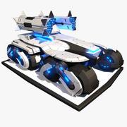 Sci-fi APC Tank 3d model